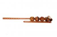 Крокетные шары и молоток из дуба