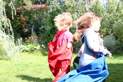 Бег в мешках на детском празднике